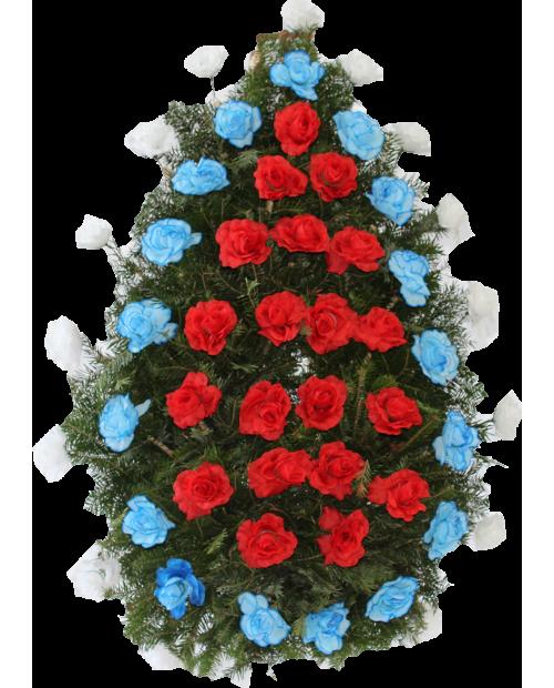 Coroana Din Trandafiri Si Garoafe Artificiale