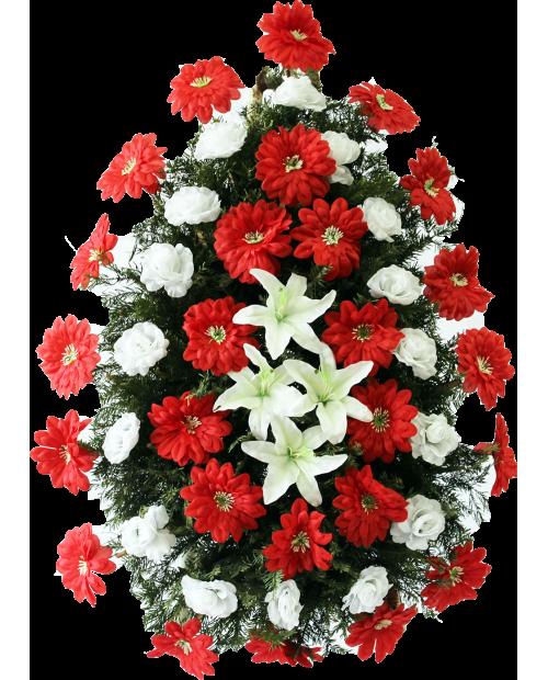 Coroana Din Trandafiri, Crini Si Jerbere Artificiale