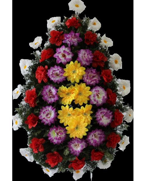 Coroana Din Trandafiri si Jerbere Artificiale