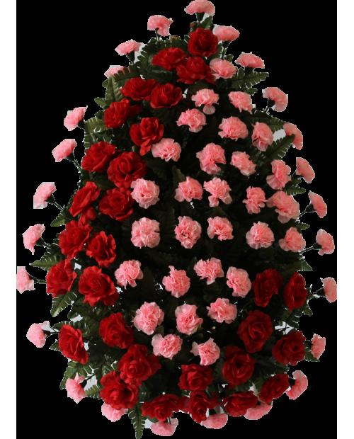 Coroana Din Trandafiri, Garoafe Si Feriga Artificiala