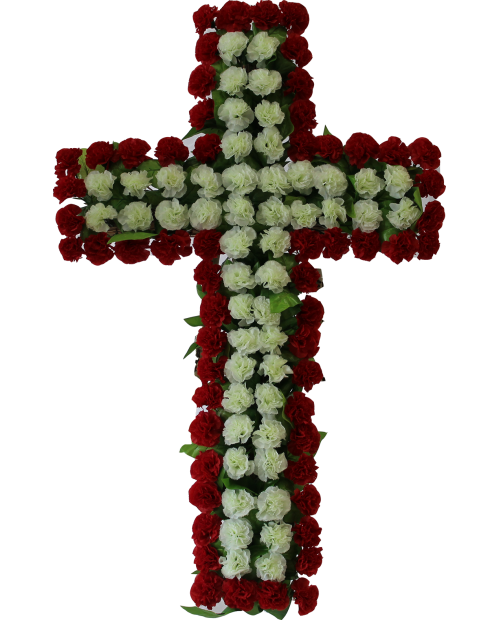 Coroana Garoafe si Frunza Artficiala Model Cruce